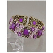 Multi-Flower Stretch Bracelet - Purple - Dazzle Her Now