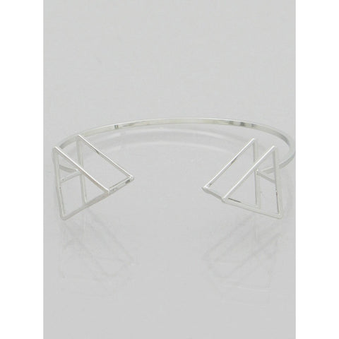 3D Triangle Cuff Bangle Bracelet - Dazzle Her Now