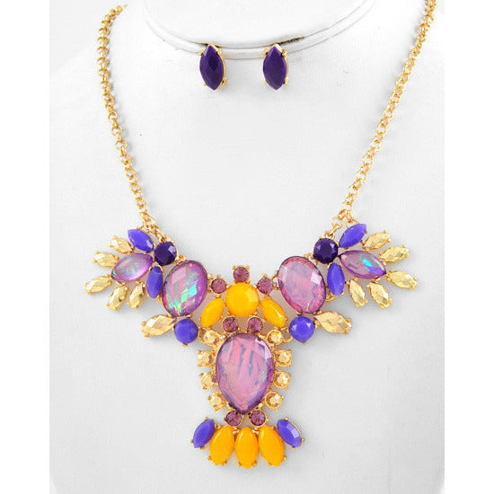 Mardi Gras Necklace Set - Dazzle Her Now