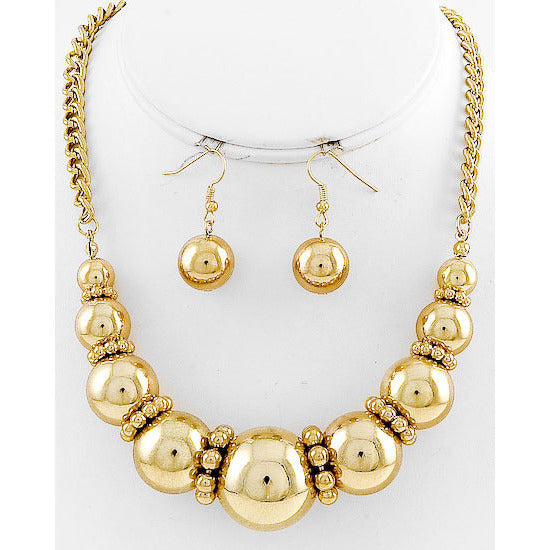 Gold Goddess Necklace Set - Dazzle Her Now