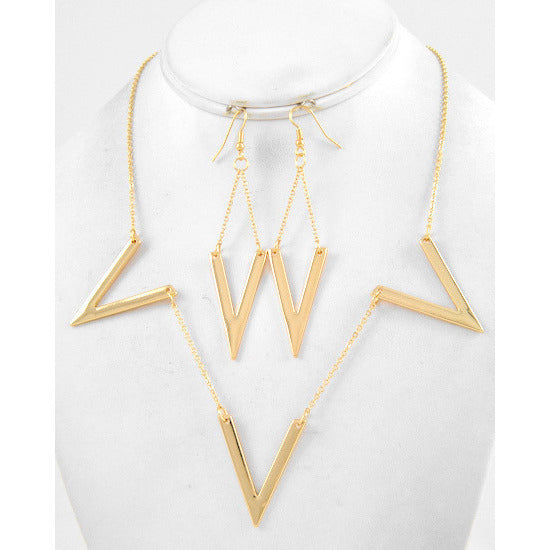 All Points South Gold Tone Necklace Set - Dazzle Her Now