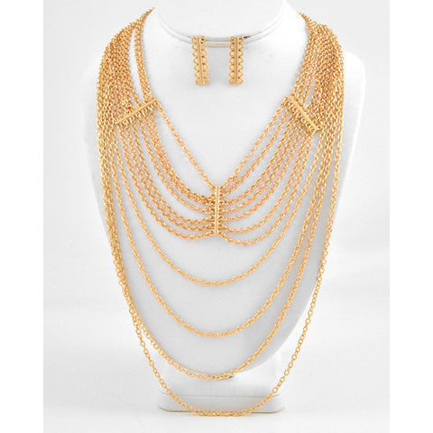 Draped All Over You Necklace Set - Dazzle Her Now