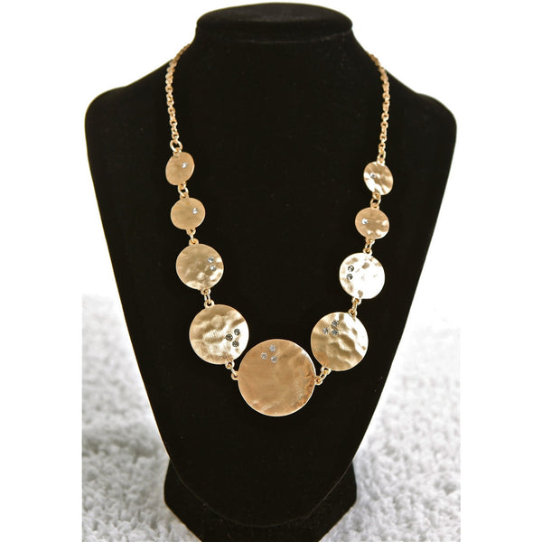Gold Coin Diamond Necklace - Dazzle Her Now