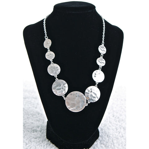 Silver Coin Diamond Necklace - Dazzle Her Now