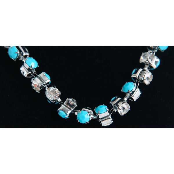 Dazzling Short Diamond Necklace - Blue - Dazzle Her Now