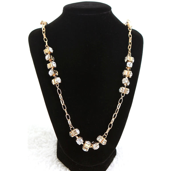 Long Gold Diamond Necklace - Dazzle Her Now