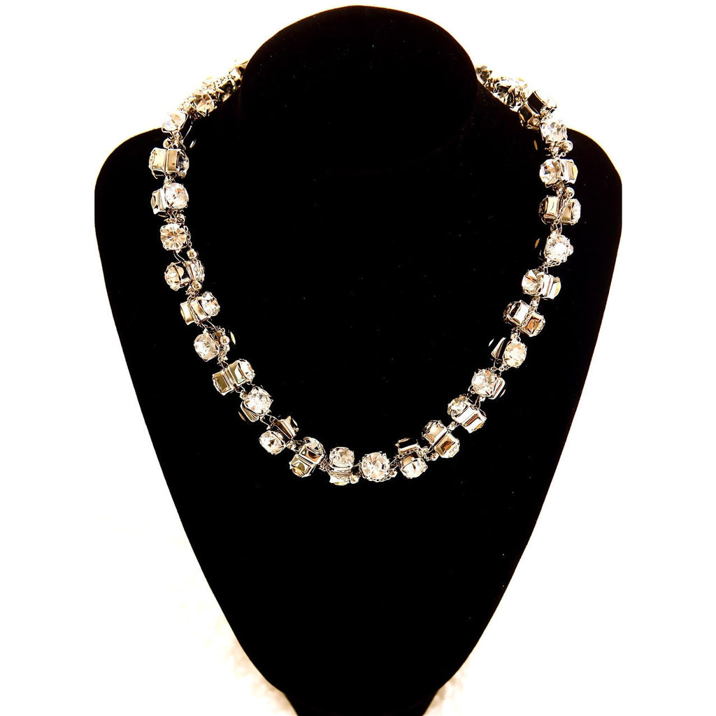 Dazzling Short Diamond Necklace - Gold - Dazzle Her Now