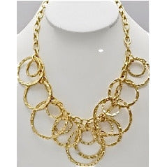 Gold Chain Circle Necklace - Dazzle Her Now