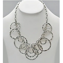 Silver Circles Necklace - Dazzle Her Now