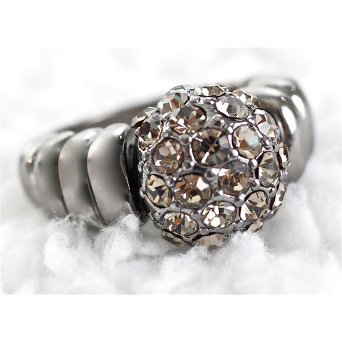 Silver Pave Stone Adjustable Ring - Dazzle Her Now