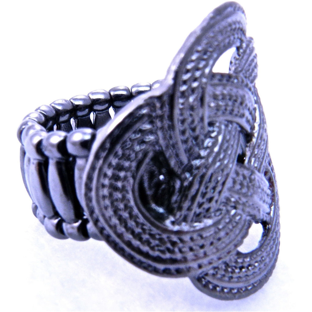 Silver Knot Ring - Dazzle Her Now