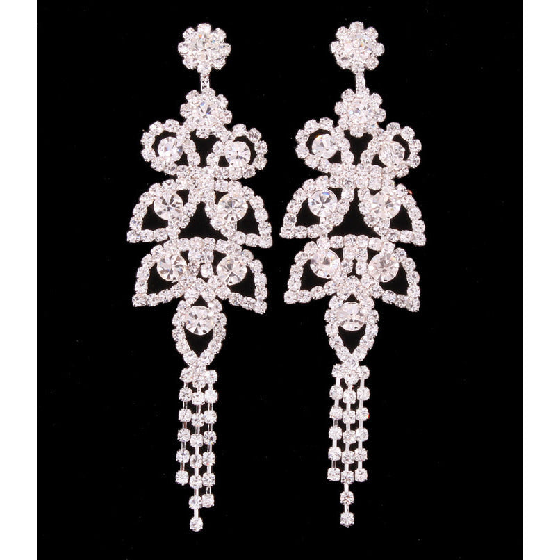 Hidden Flowers Vintage Style Rhinestone Drop Earrings - Dazzle Her Now