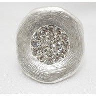 I Sparkle Silver Diamond Circle Ring - Dazzle Her Now