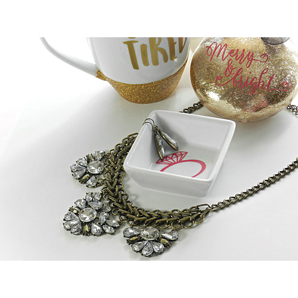 Personalized Ring Dish - Dazzle Her Now