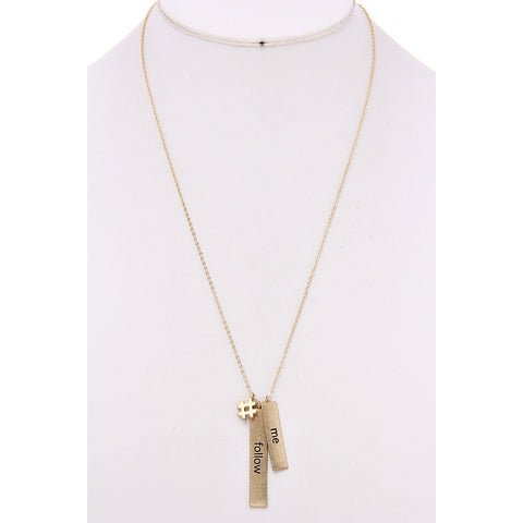 Follow Me Charm Necklace - Gold Tone - Dazzle Her Now