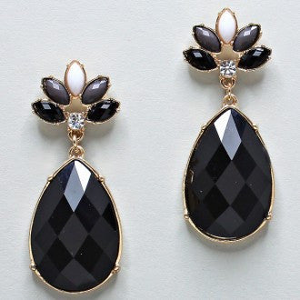 Night Out Diamond Cut Teardrop Earrings - Dazzle Her Now