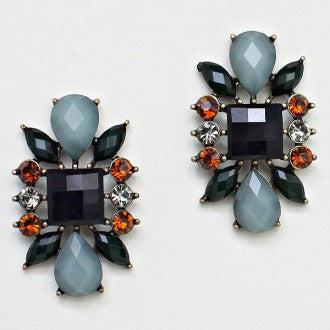 A Touch of Fall Jeweled Earrings - Dazzle Her Now