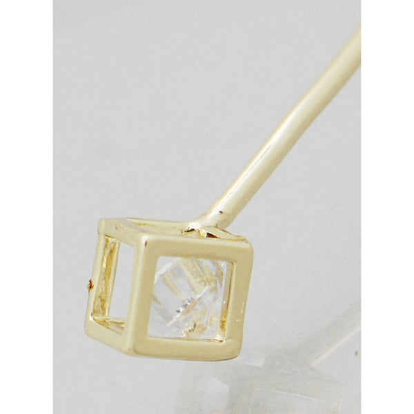 Dainty 3D Cubed CZ Filled Bangle Bracelet - Dazzle Her Now