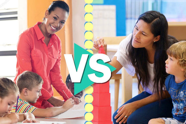 6 Differences Between a Traditional Teacher and a Montessori Teacher