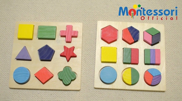 5 Montessori Activities to Learn shapes using the Educational Geometry Blocks (VIDEO)