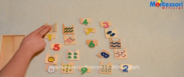 Montessori Numbers Matching Game Activity: how to teach children? (VIDEO)