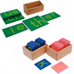 Montessori toy - Sandpaper Letters