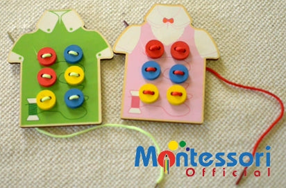 PICTURE Montessori sewing activity set