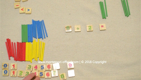 Learning Division using a Montessori-inspired toy