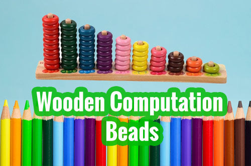 Easy Learning Counting Rods - Wooden Computation Beads
