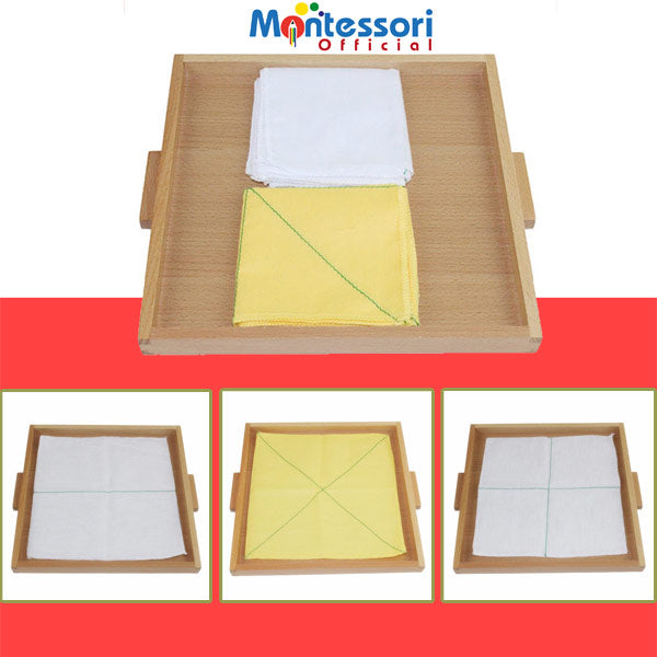 get child tidy up guidelines montessori folding learning tray