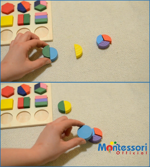 How to learn shapes Montessori activity #3 – Focus on the circle shape (Age 5-6)