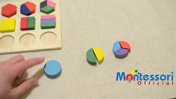 PICTURE How to learn shapes Montessori activity #4 – The three-period lesson (Age 5-6)
