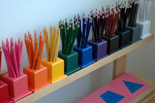 montessori school material colored pencil holder