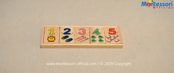 Numbers matching game activity material