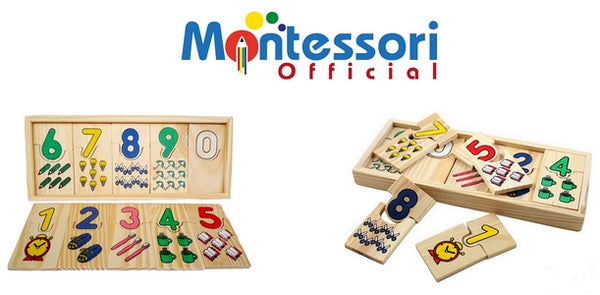 numbers matching game montessori item