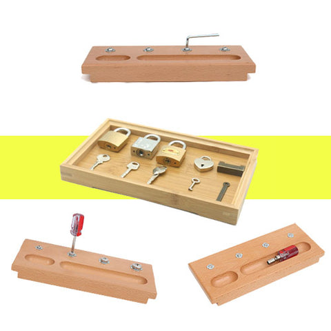 Get the Wooden Lock and Key Learning Set