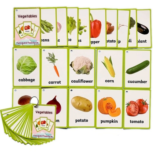 FREE Montessori Vegetables Nomenclature Cards