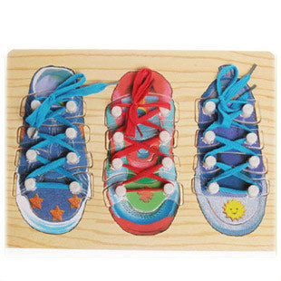 Fine Motor Skills – Lacing Shoes Learning Board