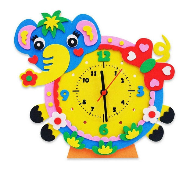 Cognitive educational toys – Animal Learning Clock Elephant