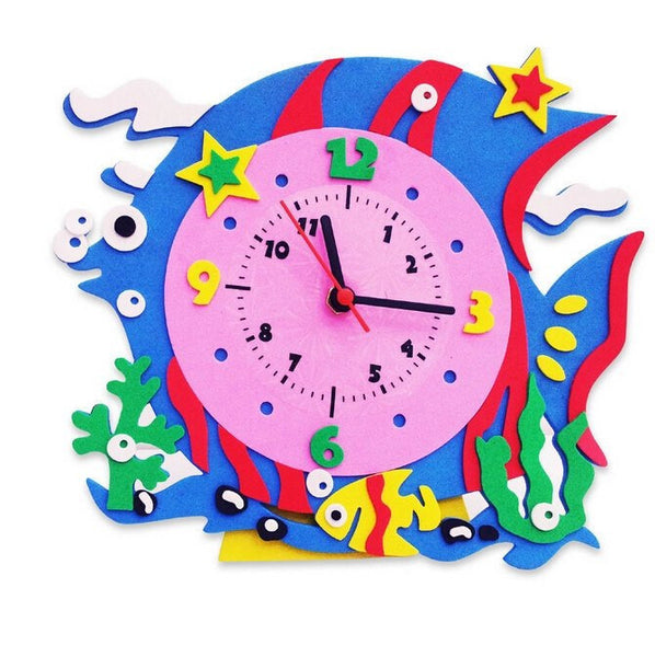 Cognitive educational toys – Animal Learning Clock Fish
