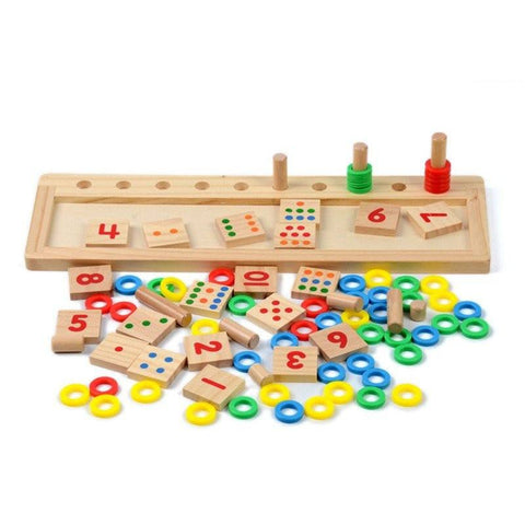 Cognitive educational toys – Calculation Wooden Plate