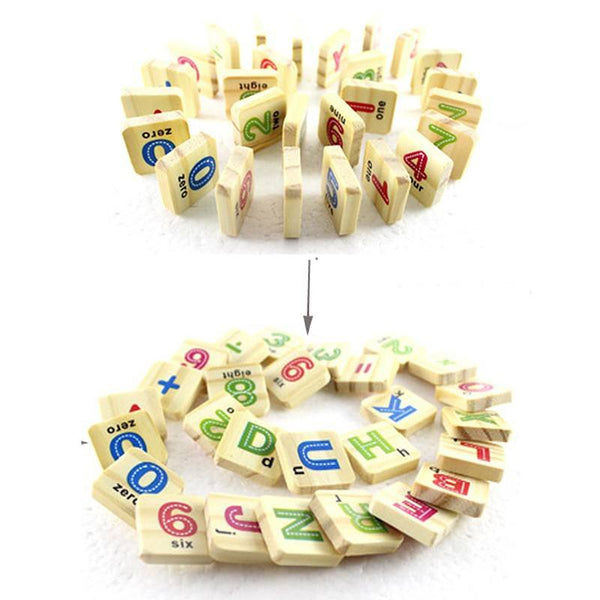 Cognitive educational toys – Early Learning Counting Box Wooden Chips