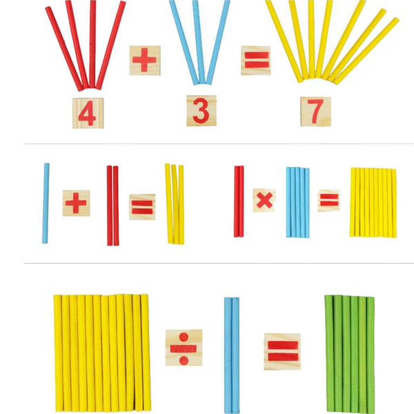 Cognitive educational toys – Math Learning Wooden Set Calculation Examples