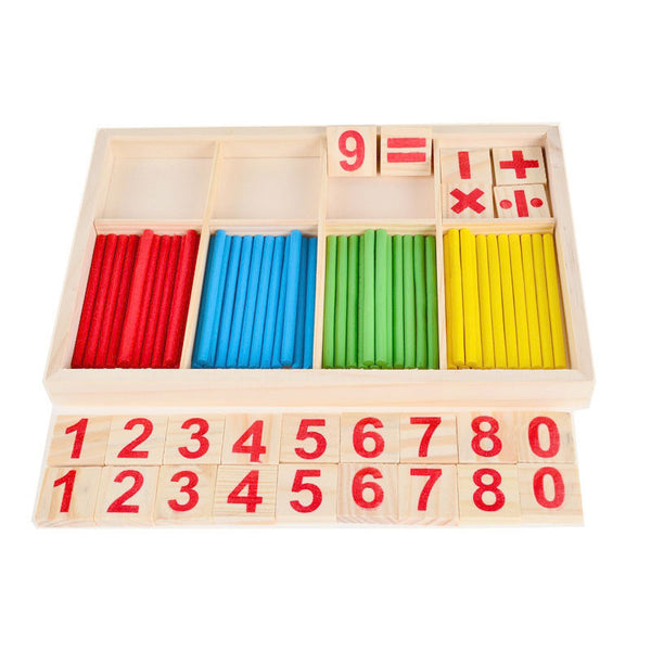 Cognitive educational toys – Math Learning Wooden Set Numbers Tiles