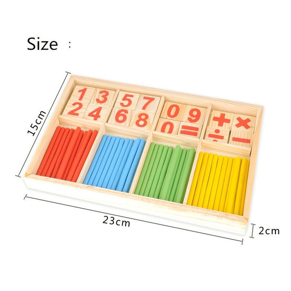 Cognitive educational toys – Math Learning Wooden Set Size
