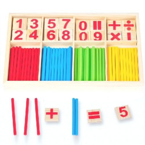 Cognitive educational toys – Math Learning Wooden Set Sticks Calculation