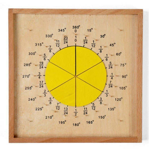 Cognitive educational toys – Fraction Pie Puzzle Yellow Fraction