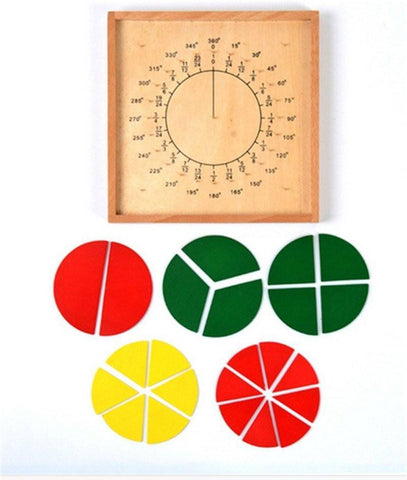 Cognitive educational toys – Fraction Pie Puzzle