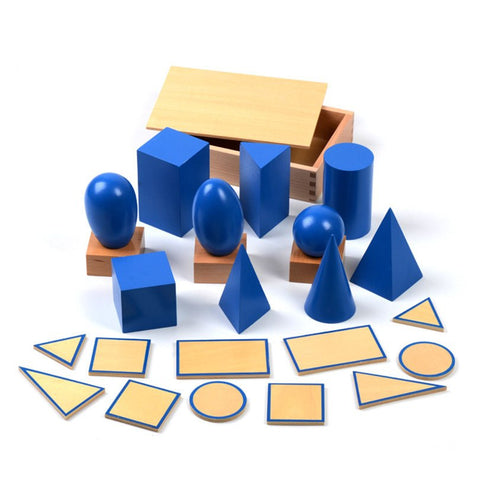 Cognitive Educational Toys - Geometric Solids With Bases