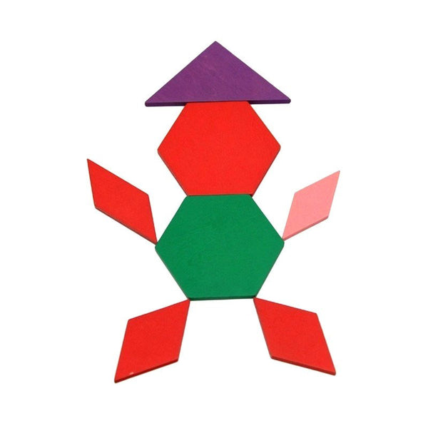 Cognitive educational toys – Geometry Colored Shapes Building Up Figure